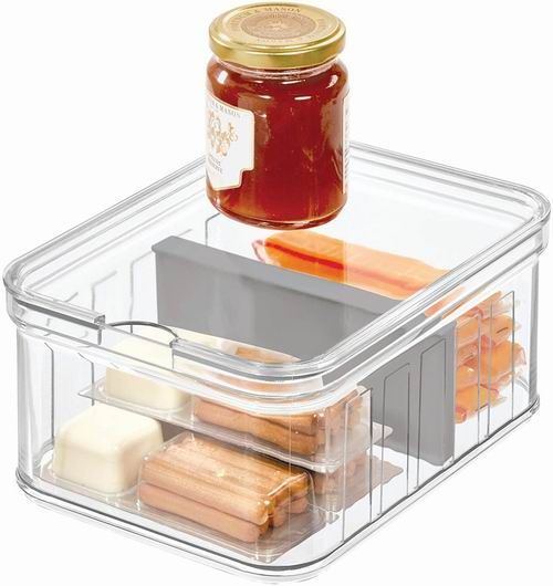 iDesign Crisp 分隔式透明厨房收纳盒 19.85加元,原价 22.22加元