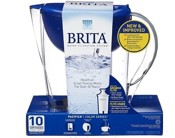 Brita Pacifica 10杯滤水壶 24.38加元,原价 37.47加元