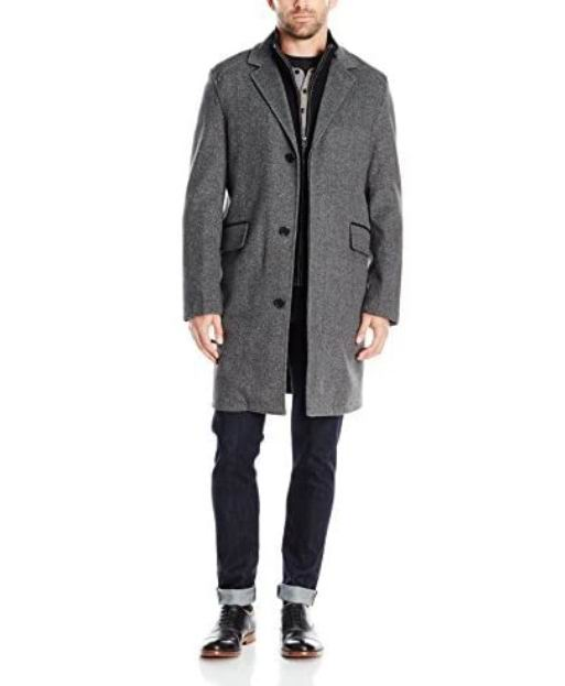 Cole Haan Brushed 53%羊毛混纺大衣 61.59加元(M码),原价 182加元,包邮