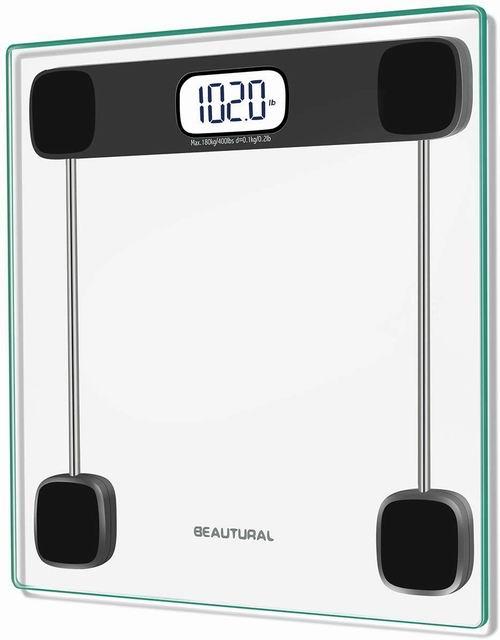 Beautural 带背光LCD数字体重秤/浴室秤 20.39加元,原价 27.95加元