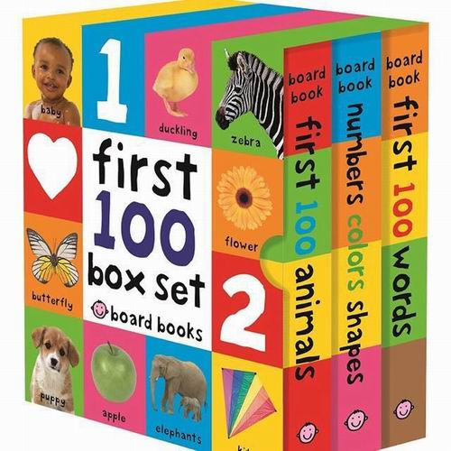 启蒙读物!First 100 Words 宝宝一百个单词 3本书 14.05加元,原价 22.5加元