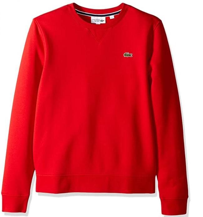 Lacoste Brushed男士圆领运动衫 50加元(S码),官网价 120加元,包邮