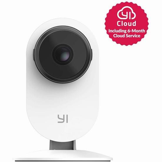 升级版 Xiaomi 小米 Yi 小蚁 1080p 双向语音 红外夜视 智能监控摄像机3.4折 27.61加元!