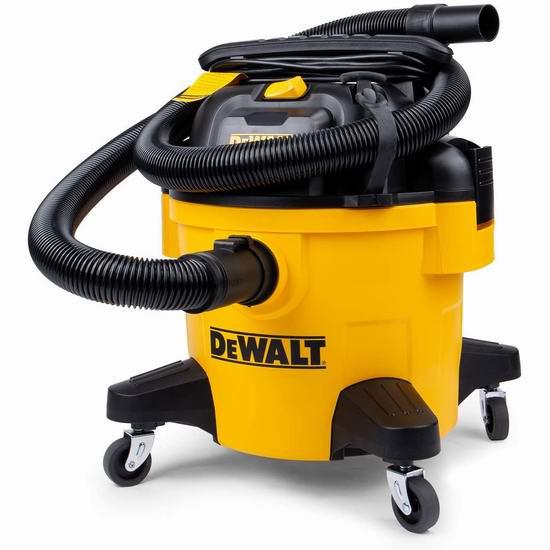 历史新低!DeWALT 得伟 DXV06P 6加仑 三合一 吹扫/干湿吸尘器 86.99加元包邮!