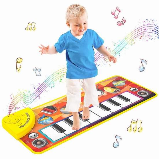 历史新低!Tisy 儿童电子琴跳舞毯6.1折 16.99加元!