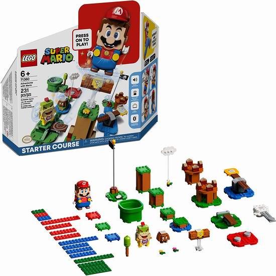 LEGO 乐高 71360 超级玛丽 马力欧冒险入门套组(231 pcs)8折 55.98加元包邮!