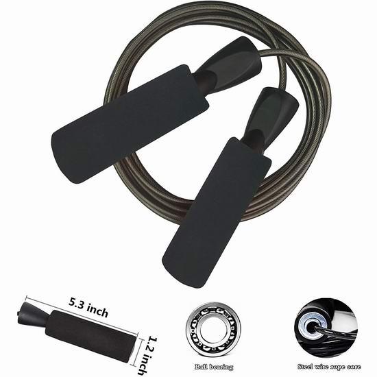 历史新低!YZLSPORTS 专业钢丝跳绳6.4折 6.99加元!