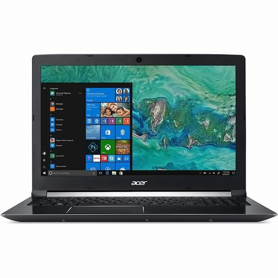 Acer 宏碁 Aspire 7 15.6英寸超薄笔记本电脑(8GB, 128GB SSD + 1TB, GTX 1050) 849加元包邮!