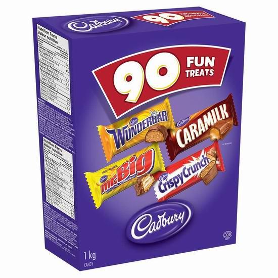 Cadbury 吉百利 Hal Choc 万圣节巧克力糖果(90支装,1公斤) 9.99加元!