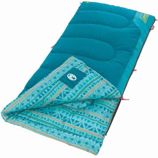 历史新低!Coleman 10摄氏度 儿童户外保暖睡袋 30.01加元!