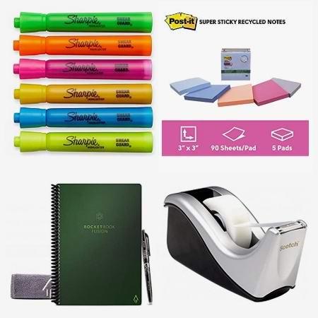 金盒头条:精选 Sharpie、Post-it、Rocketbook 等品牌荧光笔、便利贴、神奇智能笔记本、文件夹、透明胶、橡皮擦等3.8折起!