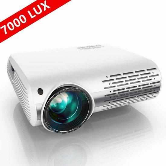 YABER 7000流明 1080P全高清 家庭影院LED投影仪5.9折 214.22加元限量特卖并包邮!