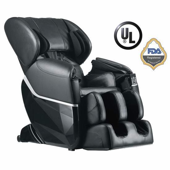 BestMassage EC77 SL导轨 超舒适 零重力按摩椅 1399.99加元包邮!