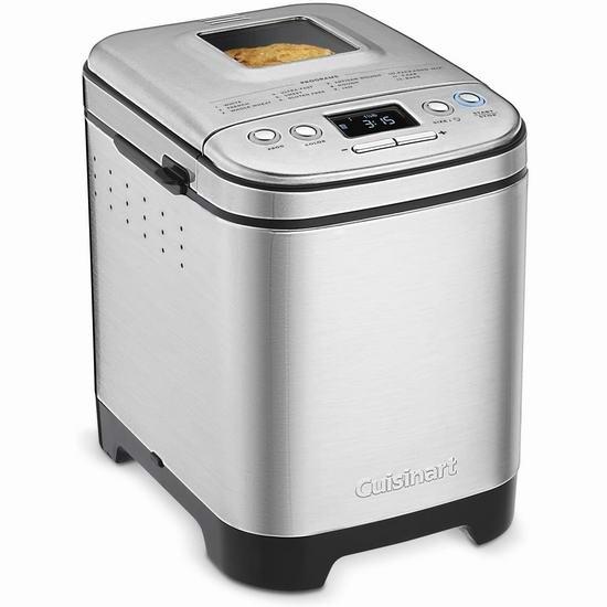 近史低价!Cuisinart 美膳雅 CBK-110C 不锈钢 全自动面包机6.7折 119.97加元包邮!