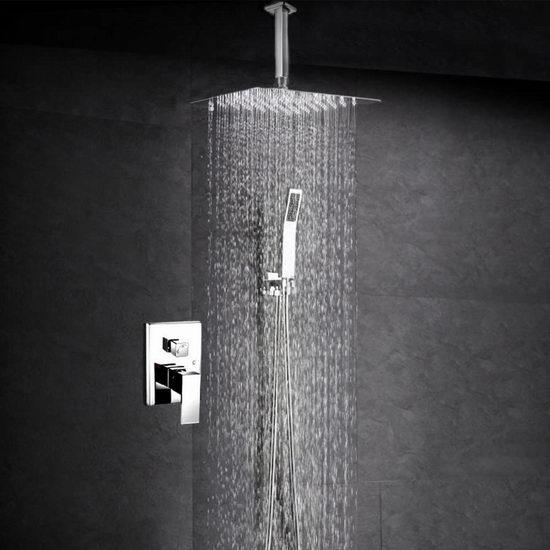 SR SUN RISE 10英寸豪华吊顶式淋浴花洒+喷头+水阀套装 199.99加元包邮!