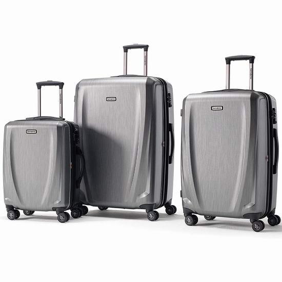 历史新低!Samsonite 新秀丽 Pursuit DLX 20/24/28寸 全PC超轻 拉杆行李箱3件套3折 225.03加元包邮!