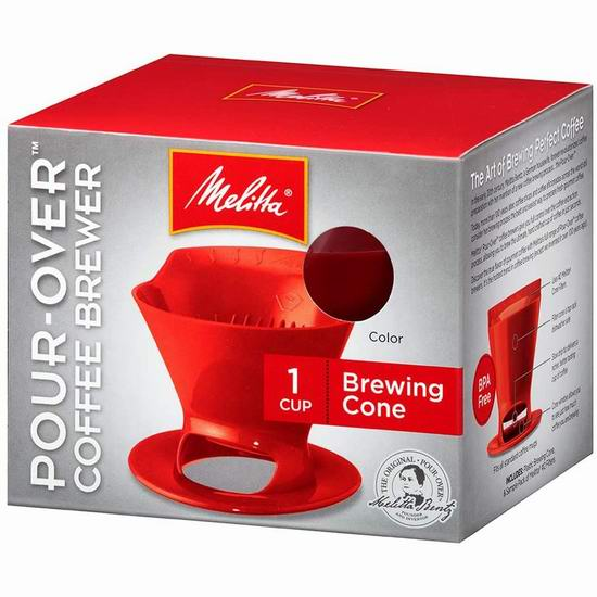 历史最低价!Melitta 德国美乐家 640820 Heritage 便携式手冲咖啡壶4折 3.98加元!