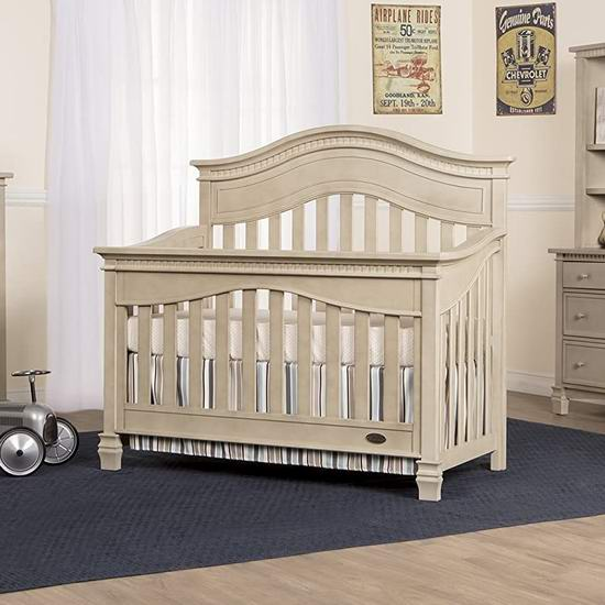历史新低!Evolur Cheyenne 五合一实木婴儿床3.8折 248.52加元包邮!
