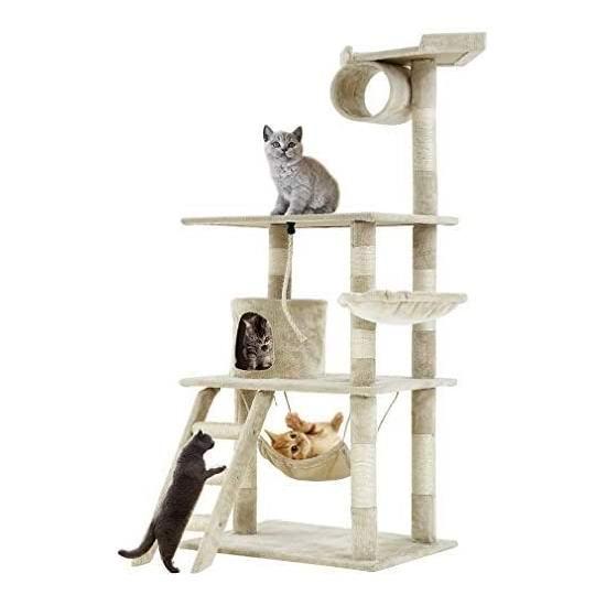 BestPet 64英寸 多层猫树公寓/猫爬架 84.99加元包邮!