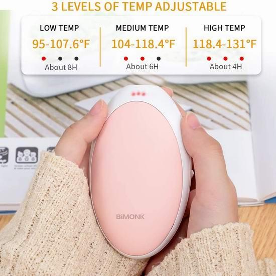 历史新低!BiMONK 5200mAh 充电式多功能 迷你暖手宝/充电宝5.7折 16.99加元限量特卖!
