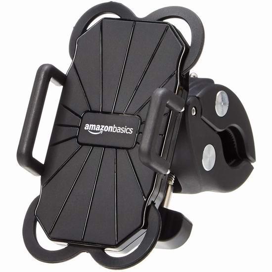 历史新低!AmazonBasics 通用自行车/健身自行车 手机支座6.3折 10.96加元!