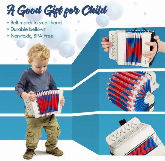 CAROSE 七键儿童手风琴6折 19.79加元!