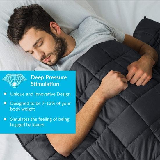 历史新低!Bedsure 玻璃珠减压重力被 26.49-34.99加元包邮!多款可选!缓解焦虑助眠神器!