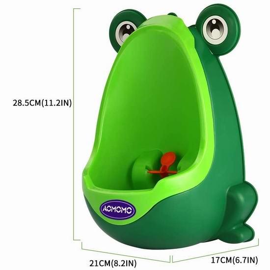 AOMOMO 挂墙式 小青蛙 男宝站立式小便斗 15.29加元!