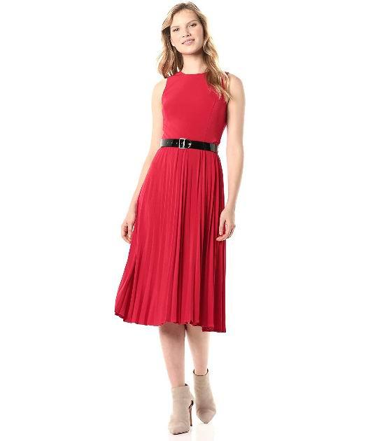 Tommy Hilfiger女士百褶连衣裙 55.07加元(2 size),原价 127.56加元,包邮