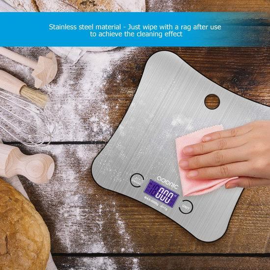 历史新低!ADORIC 时尚不锈钢厨房秤(5公斤) 16.99加元!