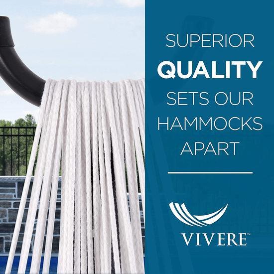 白菜价!历史新低!Vivere Double 纯棉双人吊床+金属支架套装3.8折 102.39加元包邮!