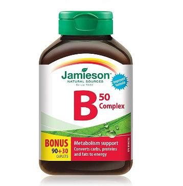 Jamieson B Complex 50 维生素B族复合片 90粒 8.52加元,原价 12.47加元