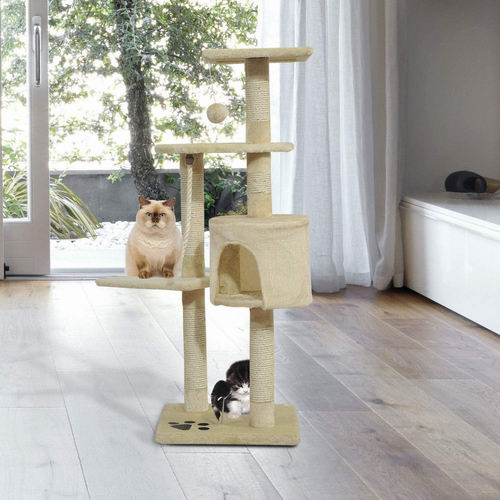 PawHut D30-035 44英寸猫树/猫爬架  54.99加元+包邮