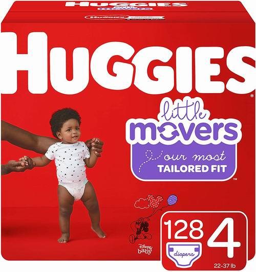 HUGGIES Little Movers婴幼儿纸尿裤 Size 4-6 92-128片 24.42加元(会员价 21.84加元)+包邮