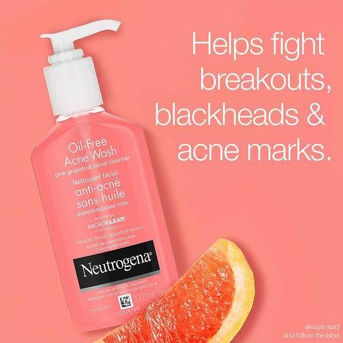 Neutrogena 露得清无油粉红葡萄柚水杨酸痤疮洗面奶 7.12加元,原价 9.97加元