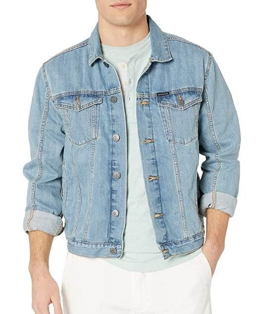 Calvin Klein 男士牛仔夹克 56.18加元(M码),原价  102.99加元,包邮