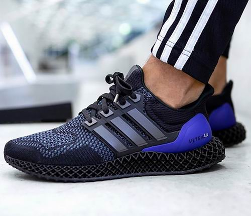 手慢无!潮款adidas Originals Ultra 4D 男士黑紫配色跑鞋 300加元(7码)