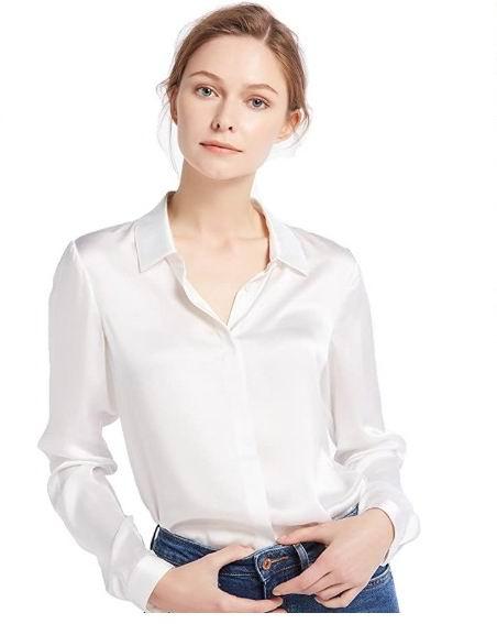 LilySilk 女士真丝衬衣 简约优雅 99.99加元,原价 139.99加元,包邮