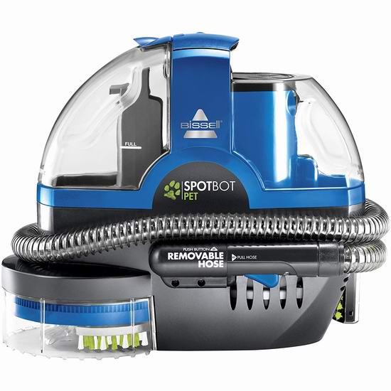历史新低!Bissell 必胜 2117A SpotBot 宠物版 便携式深层地毯清洁机6.9折 158.4加元包邮!