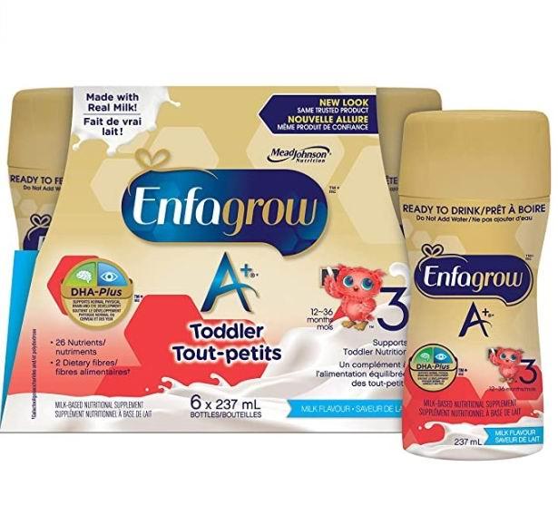 Enfagrow 美赞臣 A+ 3段即开即饮液体配方奶 6X237毫升 10.9加元