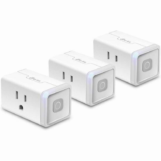 历史新低!TP-Link Kasa HS103P3 WiFi 迷你智能插头3件套 28.99加元!