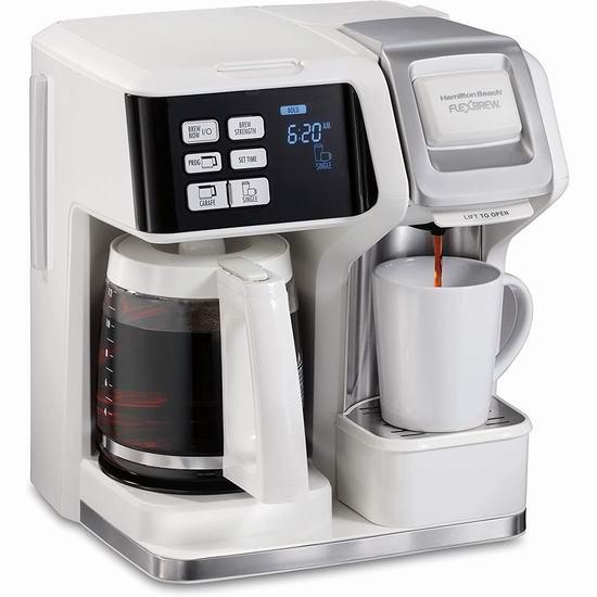 历史新低!新品 Hamilton-Beach 49947 Flexbrew 12杯量 二合一可编程咖啡机 89.99加元包邮!