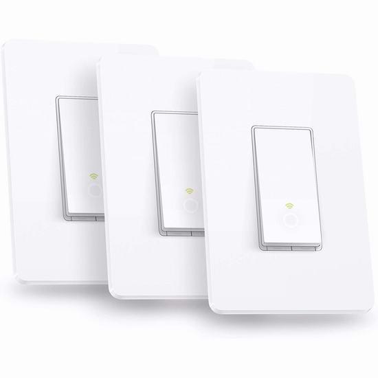 历史最低价!TP-LINK HS200P3 入墙式 Wi-Fi 智能开关3件套 54.99加元包邮!