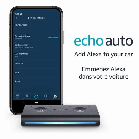 历史最低价!Echo Auto 车载智能语音助手3.6折 24.99加元!