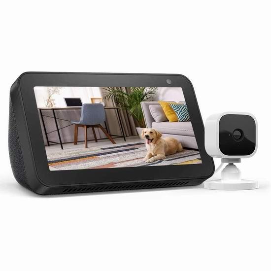 历史最低价!Echo Show 5 智能显示器 + Blink Mini智能安防摄像头5.9折 84.99加元包邮!