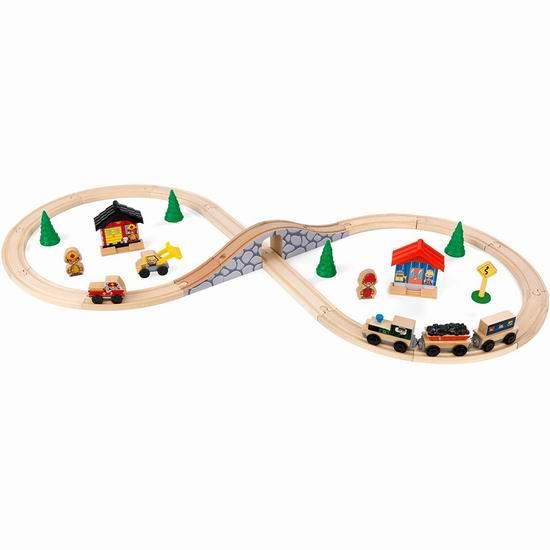 历史新低!KidKraft Figure 8 木质火车轨道套装4.7折 26.03加元!
