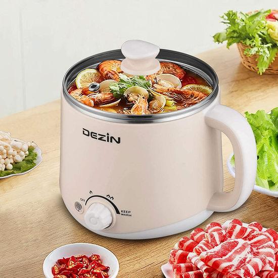 历史新低!DEZIN 1.6升 煲/煮/炖/焖/涮 高颜值 迷你多功能电煮锅/电火锅6.8折 33.99加元!2色可选!