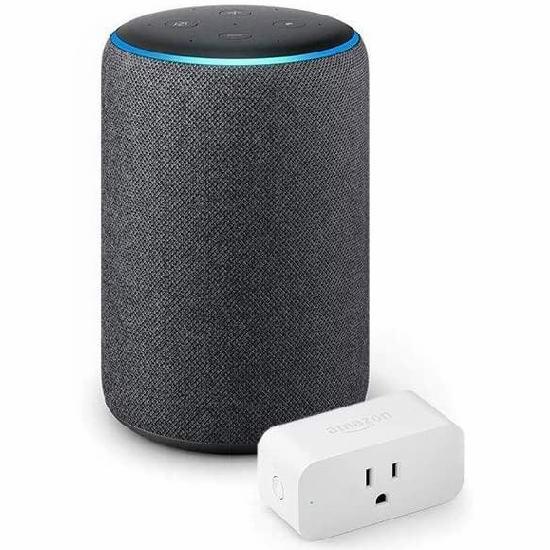 历史新低!第二代 Echo Plus 家居控制 智能音箱+智能插座3.8折 89.99加元包邮!3色可选!会员专享!