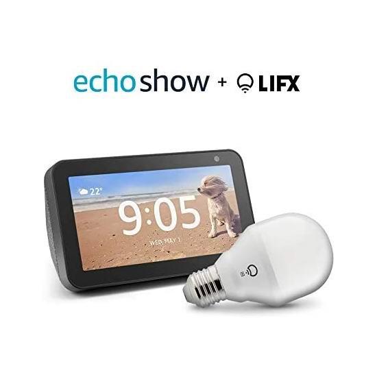 历史新低!Echo Show 5 智能显示器5.2折 59.99加元包邮+送LIFX智能灯泡!会员专享!