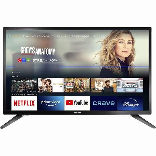 Toshiba 东芝 32英寸 720P Fire TV版智能电视 229.99加元包邮!